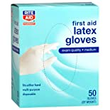 Rite Aid Latex Medical Gloves, Multi-Purpose, Medium 50 Ct.