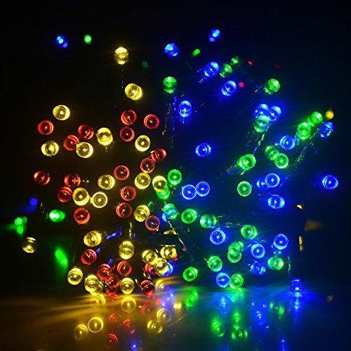 ZITRADES 100 LED RGB Solar String Fairy Muti-Color
