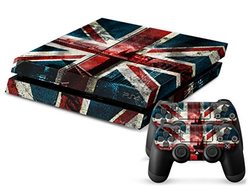 Skins4u®, adesivi decorativi per Playstation 4 PS4, set con 2 pellicole per controller