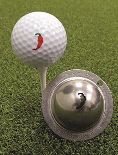 TIN CUP. GOLF BALL MARKER SYSTEM. PEPPAH.