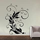 Decal Style Leaf Swirl Wall Sticker Large Size-26*35 Inch