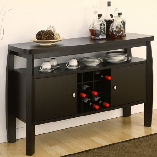 Table With Wine Storage front-25759