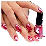 Iuhan Silver Chrome Pure Powder Mirror Effect Nail Powder Manicure Pigments (Red)