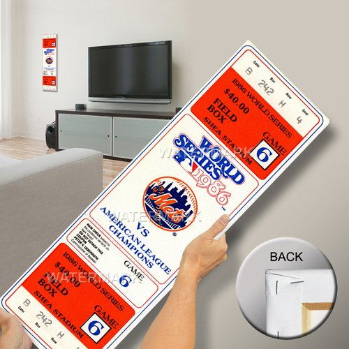 That's My Ticket 1986 World Series Game 6 Mega Ticket Wall Decor, New York Mets (Ny Mets Tickets compare prices)