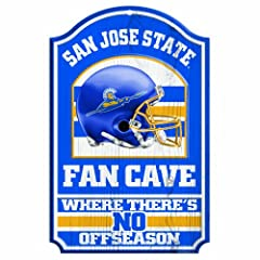 Buy NCAA San Jose State Spartans 11-by-17 Wood Sign Fan Cave by WinCraft