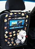 Auto asiento trasero Tablet iPad Organizador Multi Funda Protector de espalda de asiento Emoji [007]