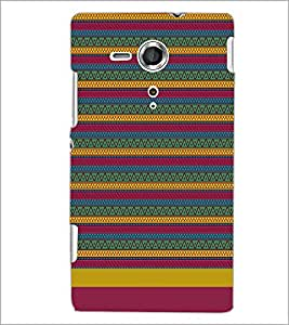 PrintDhaba Tribal pattern D-1886 Back Case Cover for SONY XPERIA SP (Multi-Coloured)