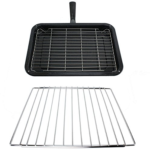 spares2go-small-grill-pan-rack-detachable-handle-with-adjustable-shelf-for-fisher-paykel-oven-cooker