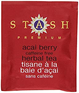 Stash Tea Acai Berry Herbal Tea, 10 Count Tea Bags in Foil (Pack of 12)