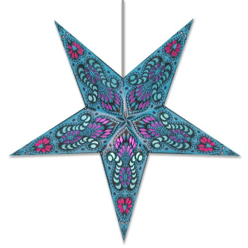 Star Lights - Peacock Blue Paper Star Lantern