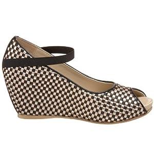 woven vegan wedge designer heels