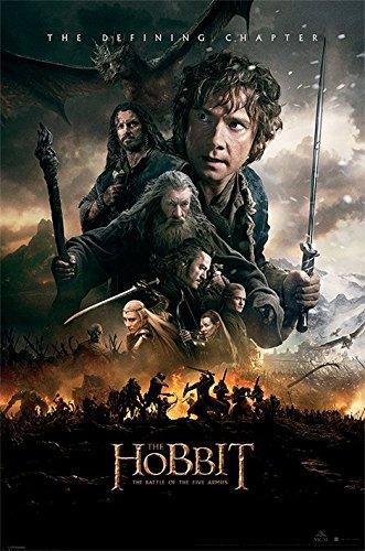 der-hobbit-schlacht-von-funf-armeen-one-sheet-maxi-poster-holz-mehrfarbig