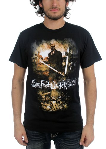 Six Feet Under - Mens A Decade In The Grave T-Shirt in Black, Size: Medium, Color: Black (Six Feet Under Tshirt compare prices)