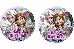 "Disney's Frozen Happy Birthday Foil Balloons 18"" (2 Balloons) by Anagram"