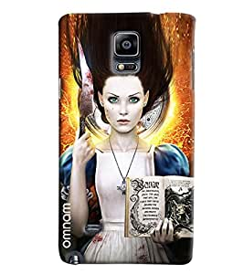 Omnam Horoscope Girl With Bookprinted Designer Back Case Samsung Galaxy Note 4