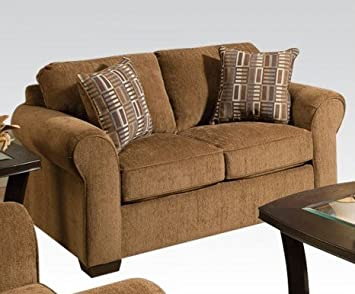 Torilyn Fabric Loveseat in Walnut by Acme Furniture