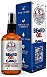Beard Oil XL by Steampunk® - The Kissable Blend - For Soft Beard, Moustache & Hair Growth - Moisturiser & Leave-In Conditioner - Fights Dandruff & Itch - 100ml