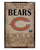 Chicago Bears Classic Ticket 12 x 18 Canvas Wall Art