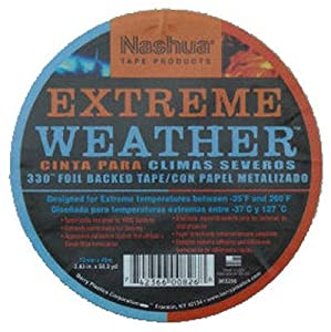 Nashua 330 Extreme Weather Foil Tape: 3 in. x 50 yds. (Silver)