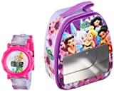 Disney Fairies Kid's FAR051T LCD Watch Set with Gift Box