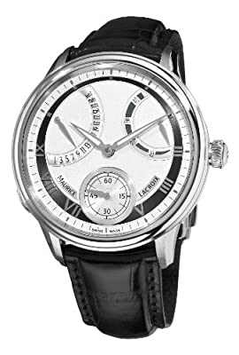 Maurice Lacroix Men's MP7268-SS001110 MasterPiece Silver and Grey Frame Dial Watch by Maurice Lacroix