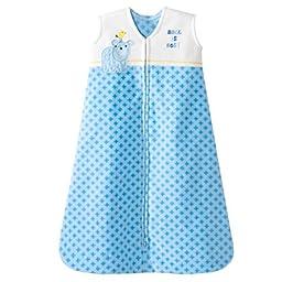 HALO SleepSack Micro Fleece Wearable Blanket, Blue Geometric, X-Large
