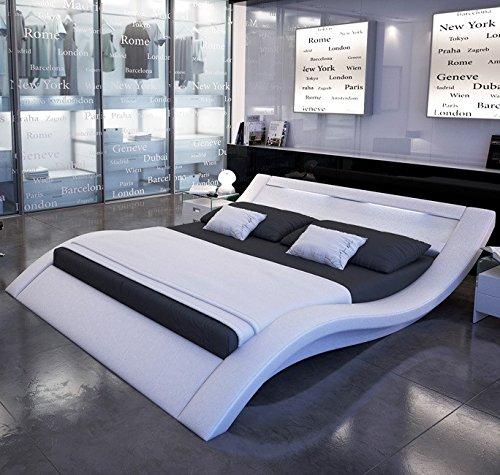 Muebles Bonitos - Cama de diseño modelo Calpe en color Blanco 160x200cm