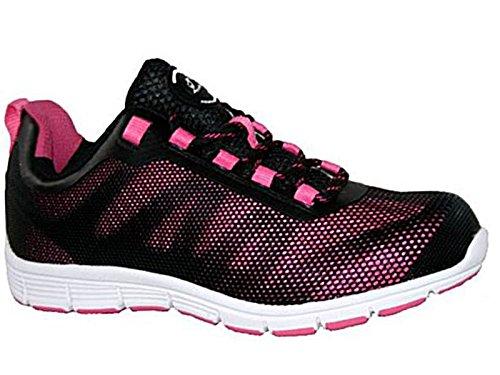 Groundwork - Scarpe da tennis di sicurezza donna , Multicolore (Pink/Black), 42