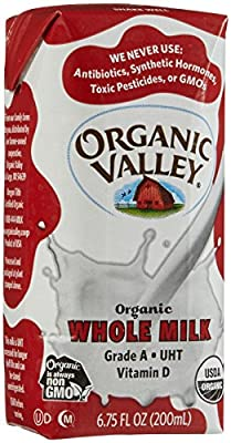 Organic Valley Whole Milk, Single Serve - White - 6.75 oz. - 12 Pack