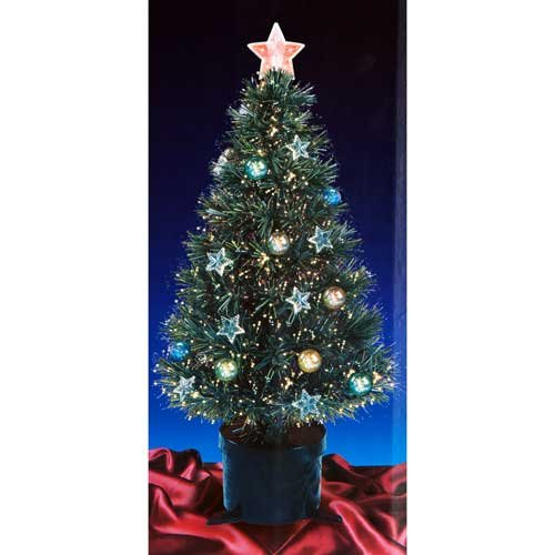 Beautiful 4ft 120cm Green Fibre Optic Christmas Tree