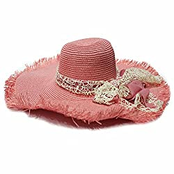 TakeIncart WomenS Fashion Summer Floppy Hat With Bow Tie Ribbon