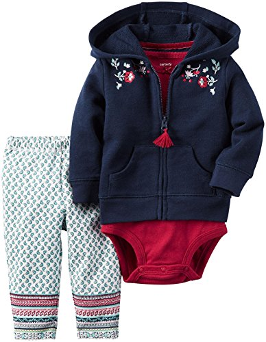 Carter's Baby Girls 3 Pc Sets, Navy, 12 Months