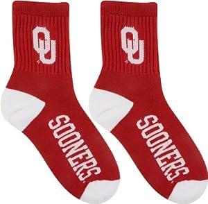 Oklahoma Sooners Team Color Quarter Socks by For Bare Feet