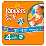 Pampers Simply Dry Size 4 Nappies 26 pack
