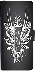 Snoogg Abstract Wings Graphic Snap On Hard Back Leather + Pc Flip Cover Asus ...