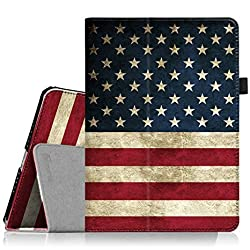 Fintie iPad Air 2 Case - Slim Fit Folio Stand Smart Cover with Auto Sleep / Wake Feature for iPad Air 2 (iPad 6) 2014 Model, US Flag