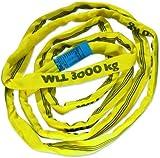 Braun 30041RS Rundschlinge 3000 kg Tragkraft, 4 m Umfang, endlos mit Polyesterkern, gelb