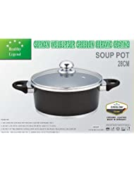 7.1 Quart Stock Pot (soup pot) with Non-stick German Weilburger Ceramic Coating by Healthy... by Healthy+Legend