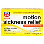 Rite Aid Motion Sickness Relief, Tablets 36 ea