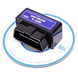 Amtake Industry Super Mini Wireless OBD Adapter OBD2 iphone OBDII WiFi Car Code Reader Scanner Engine Check Auto Diagnostic Scan Tool Engine Light Check Adapter Compatible with iOS & Android Devices