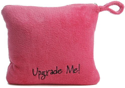 Miamica All-In-One Foldable Travel Blanket Pillow Combo Upgrade Me, Fuchsia, One Size