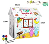Painting Cardboard Playhouse Bunny Christmas With Painting Kit Included - Smith&Dupont Fun!