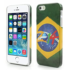 JUJEO 2014 Brazil World Cup Logo PC Hard Back Case for iPhone 5 - Non-Retail Packaging - Multi Color