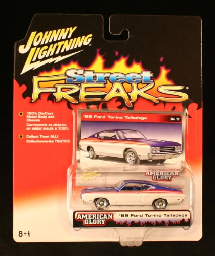 '69 FORD TORINO TALLADEGA * STREET FREAKS * 2005 Johnny Lightning Die-Cast Vehicle & Collector Photo Card