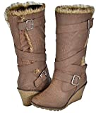 Breckelles Kansas-85 Lt Brown Women Casual Boots