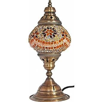 Table Lamp Mosaic Lamps Orange Glass Moroccan Lanterns Turkish Lamp Beds