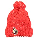 Women's Reebok NHL Fashion Cuffed Ball Top Knit Hat