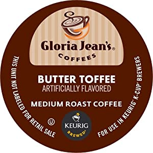 Keurig, Gloria Jean's, Butter Toffee, K-Cup packs, 50 Count