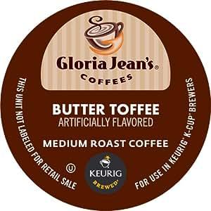 Keurig, Gloria Jean's, Butter Toffee, K-Cup Counts, 50 Count