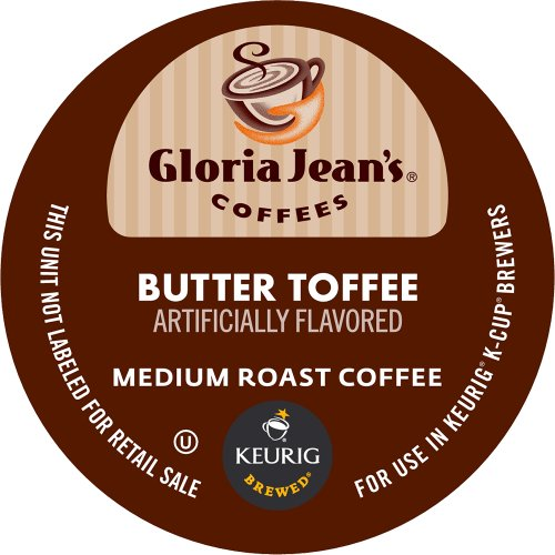 Keurig Gloria Jean's Butter Toffee K-Cup packs  (Pack of 50)